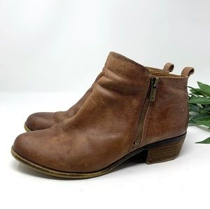 Lucky Brand Ankle Boot Cognac Brown Leather 9